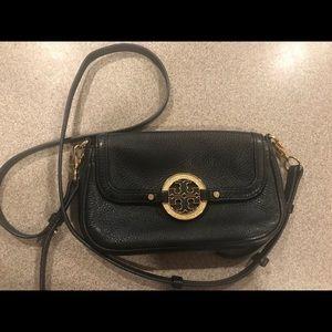Tory Burch black and gold crossbody bag